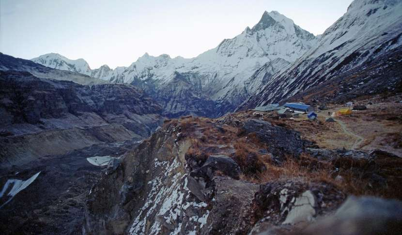 Annapurna Base Camp Before Sunrise